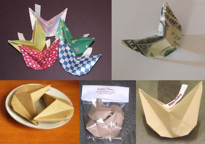 Paper Fortune Cookies (Valentines) · How To Fold An Origami Food ... | 494x704